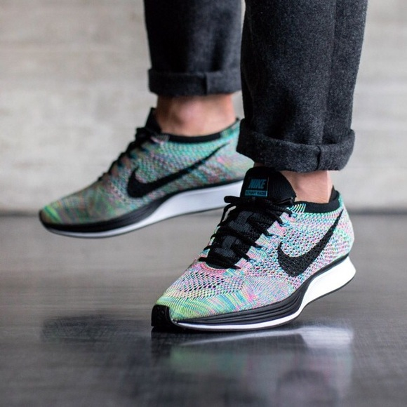b118e265d569 Men s Nike Flyknit Racer Multi-color Sneakers